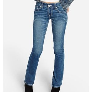 Express Barely Boot Thick Stitch Jeans